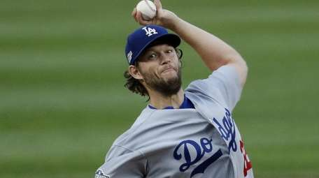 Clayton Kershaw of the Los Angeles Dodgers pitches