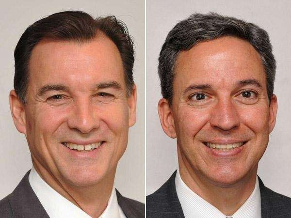 Democrat Thomas Suozzi, left, and Republican Jack Martins