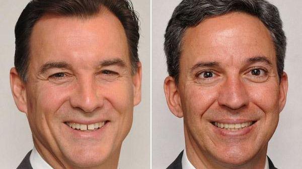 Democrat Thomas Suozzi, left, and Republican Jack Martins