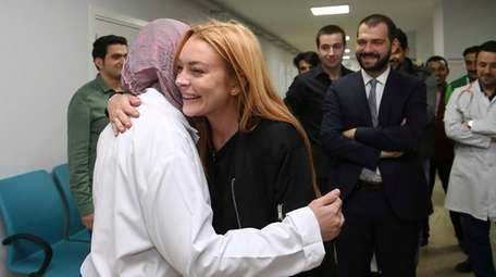 Lindsay Lohan visits Syrian refugees in the Sultanbeyli