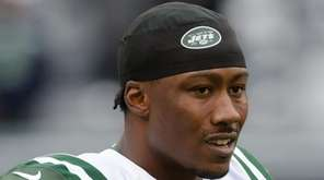 New York Jets' wide receiver Brandon Marshall before