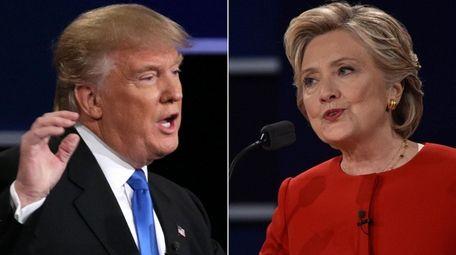 Republican Donald Trump, left, and Democrat Hillary Clinton
