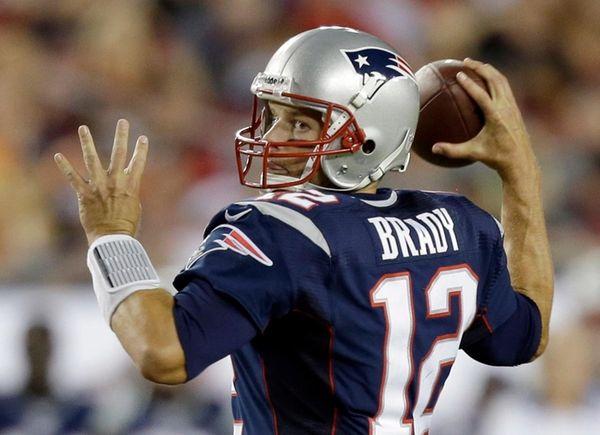 New England Patriots quarterback Tom Brady against the