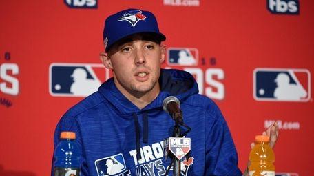 Toronto Blue Jays starting pitcher Aaron Sanchez answers