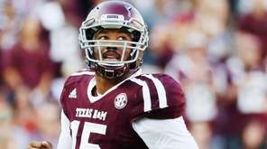 Myles Garrett of the Texas A&M Aggies waits