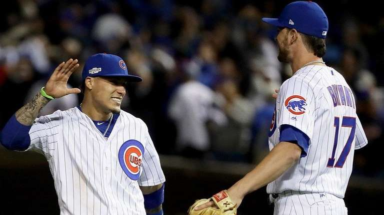 Javier Baez and Kris Bryant of the Chicago
