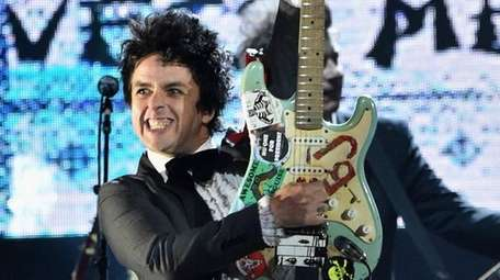 Green Day's Billie Joe Armstrong performs during the
