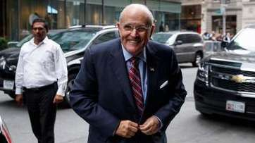 Former New York Mayor Rudy Giuliani arrives at