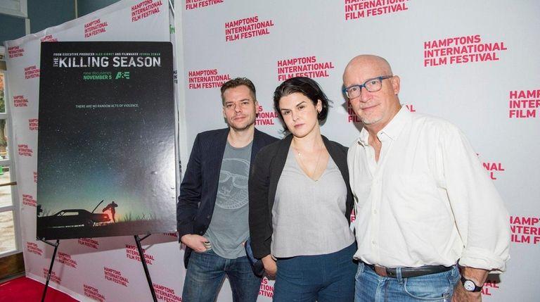 Filmmakers Josh Zelman, Rachel Mills and executive producer