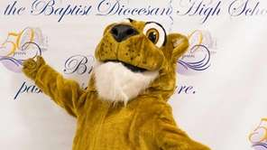 St. John the Baptist's mascot is excited to
