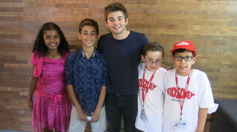 Actor Jack Griffo, center, from Nickelodeon's