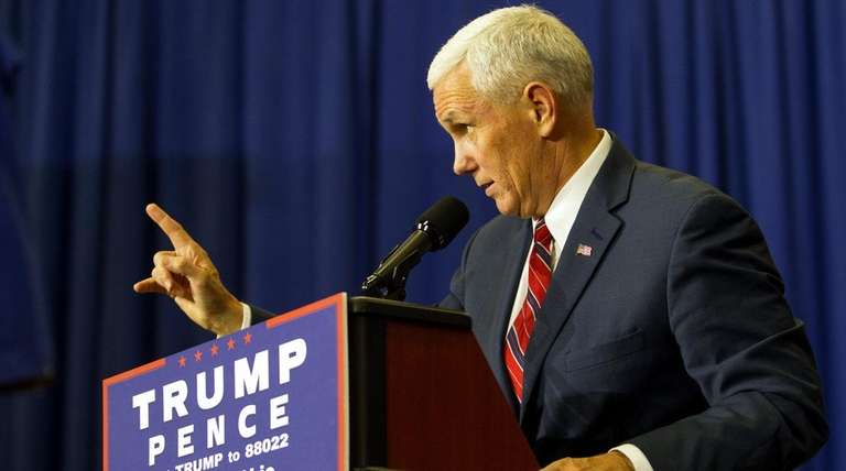 Republican vice presidential candidate, Indiana Gov. Mike Pence