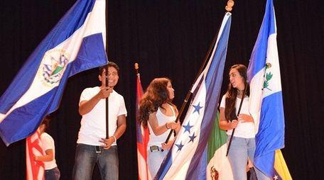 Students in Amityville High School's Hispanic Heritage Club