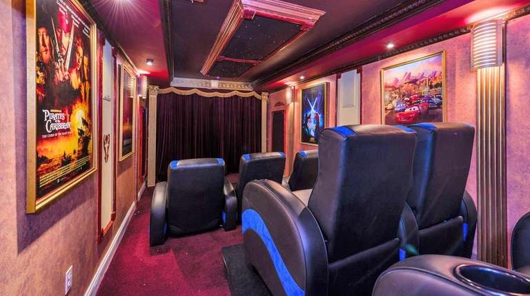 The Northport house above this movie-theater basement has