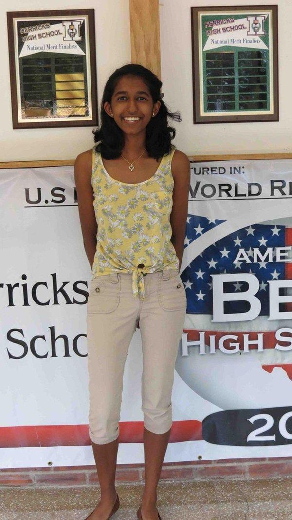 Samantha Aloysius, a senior at Herricks High School