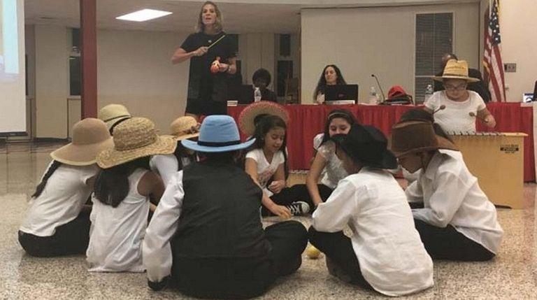 Transitional bilingual students at Caroline G. Atkinson School
