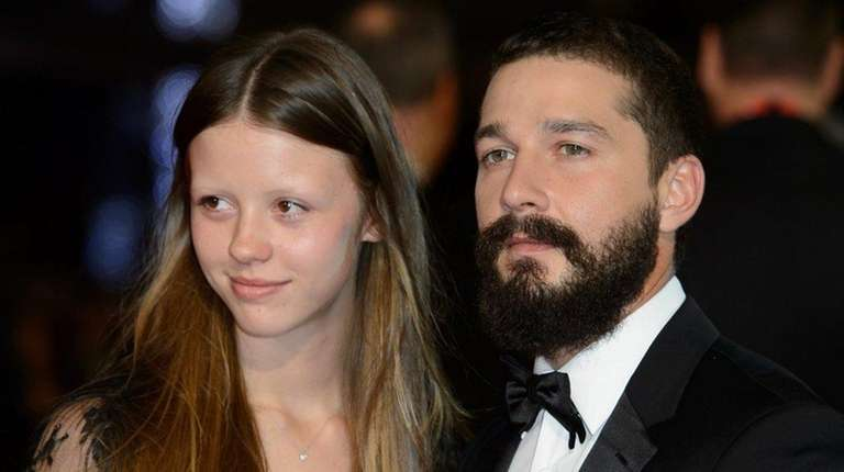 Mia Goth and actor Shia LaBeouf, above in