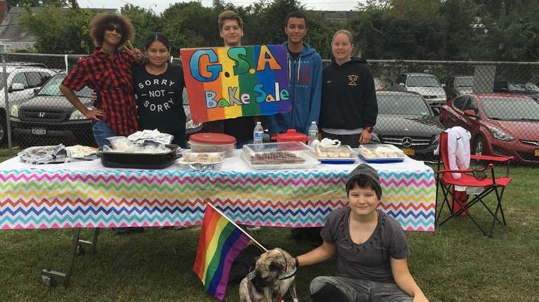 Members of the Gay-Straight Alliance at West Hempstead