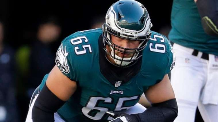 Philadelphia Eagles tackle Lane Johnson  waits for a