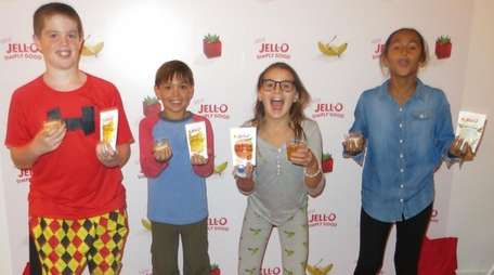 Kidsday reporters at the taste testing of new