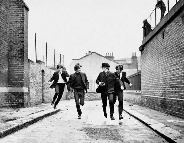 The Beatles (Paul McCartney, left, George Harrison, Ringo