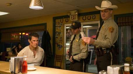 Left to right: Tom Cruise plays Jack Reacher,