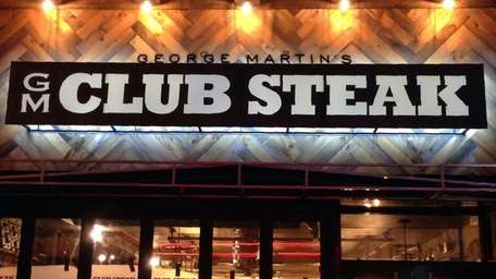 The menu at GM Club Steak is divided