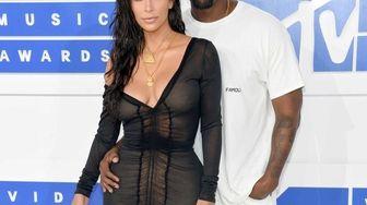 Kim Kardashian and Kanye West attend the 2016