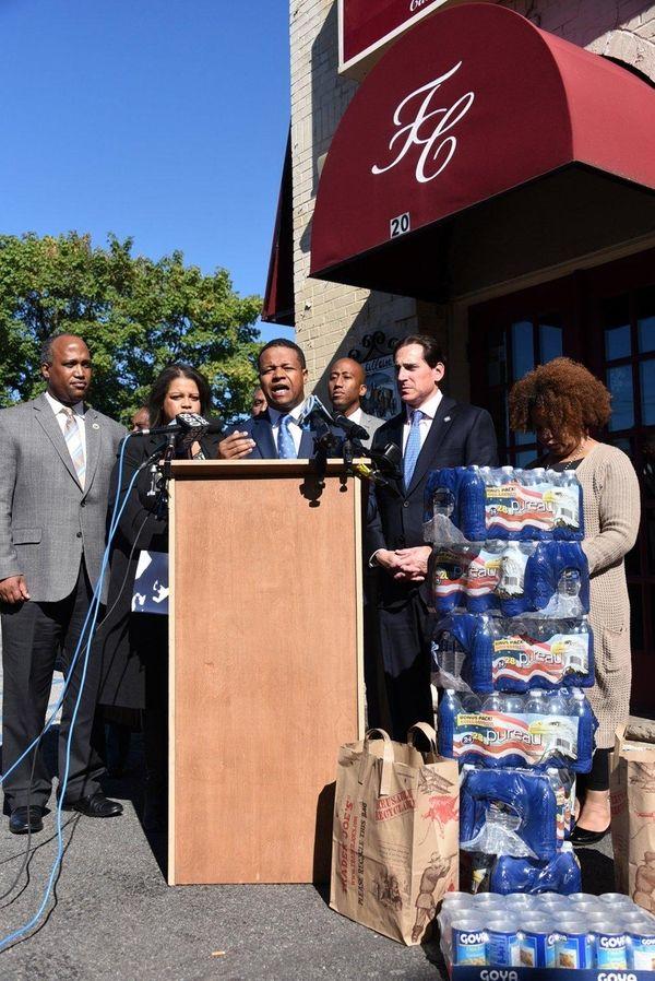 Nassau County Legis. Carrié Solages (D-Elmont) speaks at