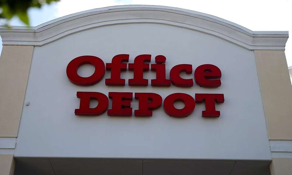An Office Depot in an undated photo.