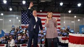 Former Vice President Al Gore campaigns with Hillary