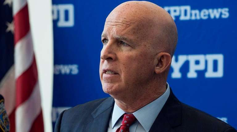 NYPD Police Commissioner James P. O'Neill speaks at