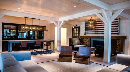 The first floor common area at the newly