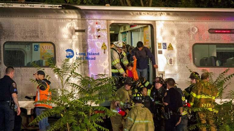 Nassau County and MTA police and firefighters respond