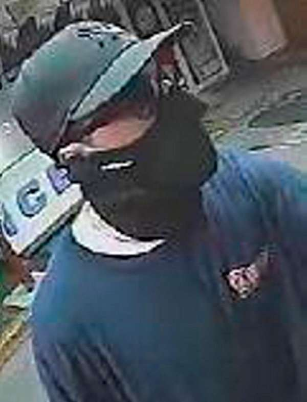 Nassau police are seeking this masked man, who
