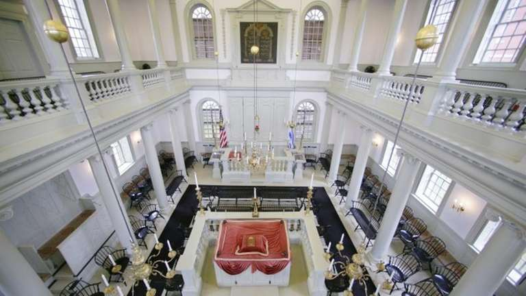 An interior view of Touro Synagogue, the nation's