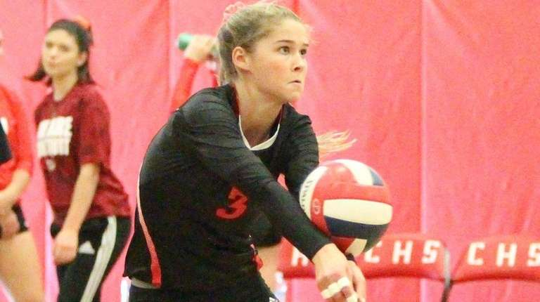 Connetquot's Mackenzie Cole plays the ball in the
