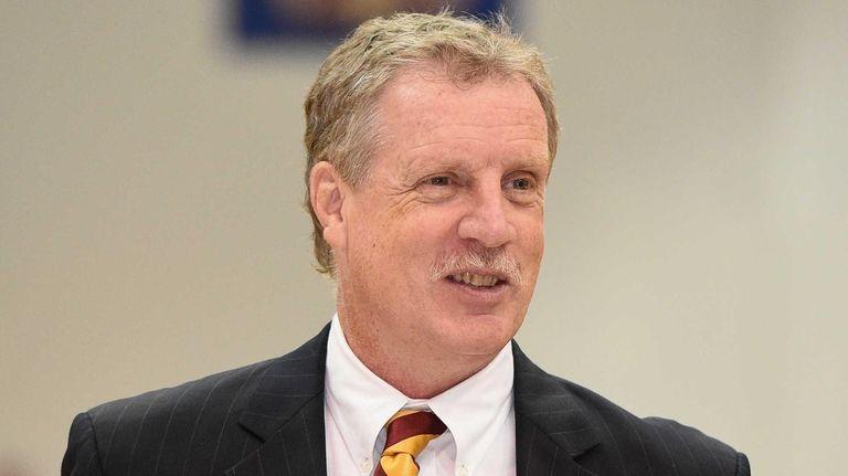 Iona men's basketball head coach Tim Cluess looks