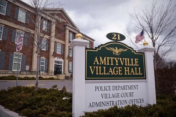 Amityville Village Hall is seen in a