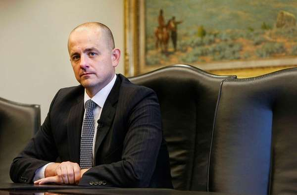 Evan McMullin, pictured on Aug. 10, 2016, is
