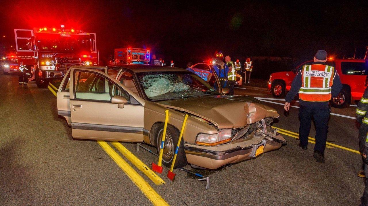Drunken driver hit Mastic Beach fire department van, cops say | Newsday