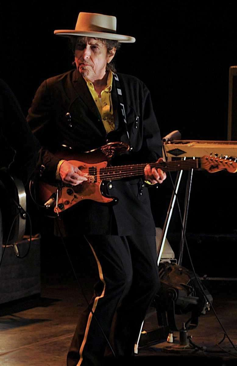 Bob Dylan performs on April 6, 2011, with