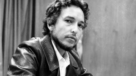 Singer-songwriter Bob Dylan during a news conference in