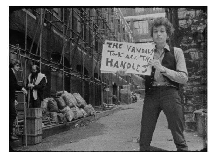 This is a photo from the Bob Dylan