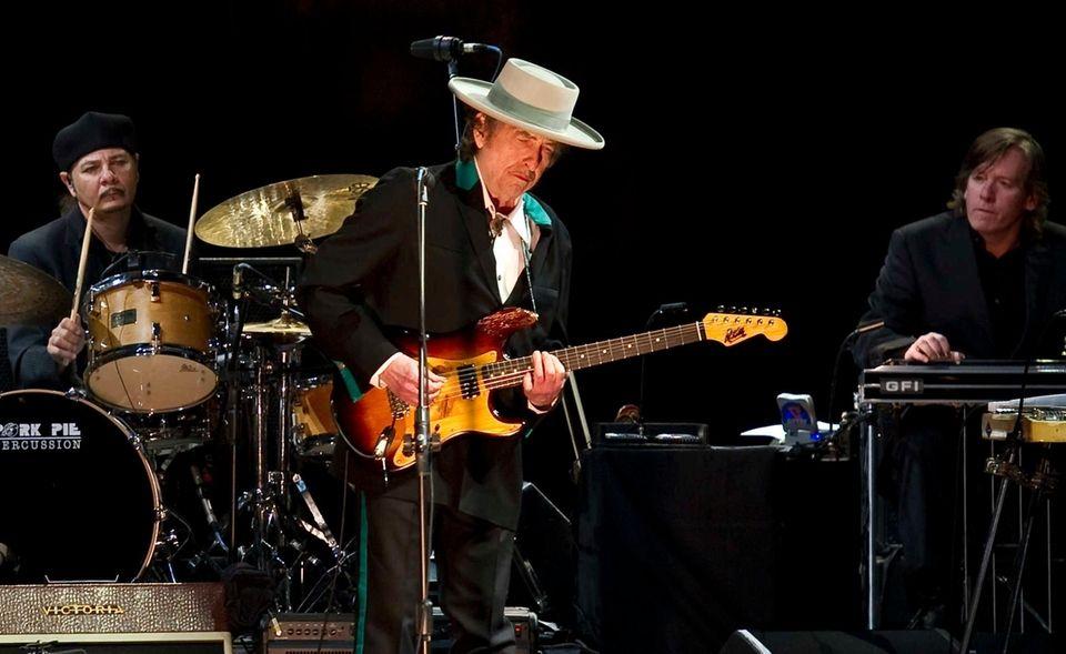 American singer-songwriter Bob Dylan performs April 8,