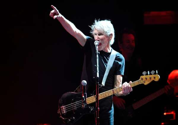 Roger Waters performs at the Desert Trip music