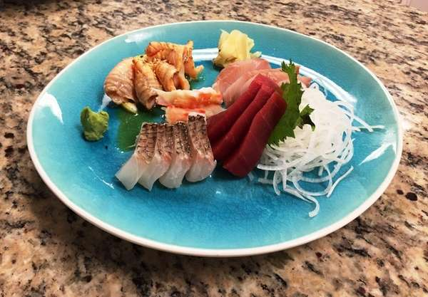 Sashimi is on the eclectic menu at King's