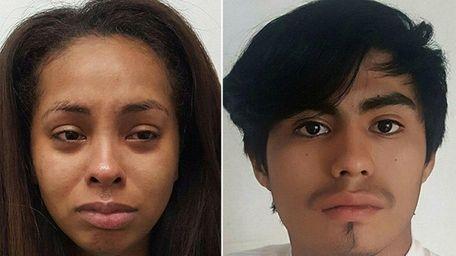 Selena Boneta, 19, from West Babylon, left, Jefferson