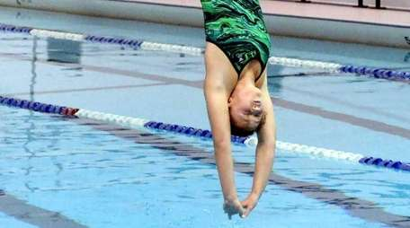 Lindenhurst's Grace Reeves in action in a meet