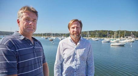 Northport Village Trustee Ian Milligan, left, and Rusty